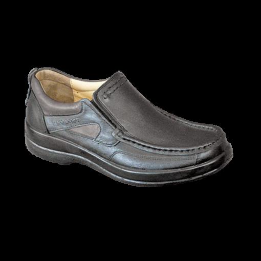 کفش مردانه 301 چرمی بی بند سافتی با کفی طبی چرمی
