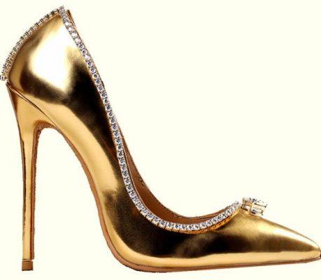 کفش ساخته شده از طلا و الماس در امارات