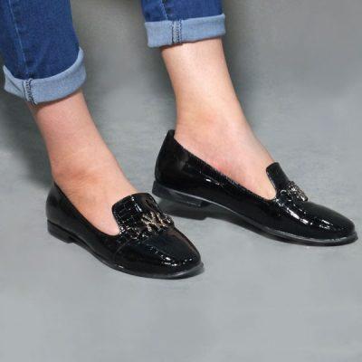 کفش چرم ورنی
